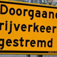 Wegafsluitingen vanwege werkzaamheden in Nijkerk