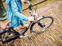 het is een heerlijke dag om kilometers te maken op de elektrische fiets van uw wensen
